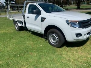 2013 Ford Ranger PX XLS White Manual Utility Dandenong Greater Dandenong Preview