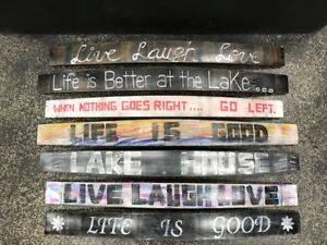 Hand painted wine barrel stave signs/ can make custom pieces!