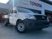 2009 Toyota Hilux TGN16R MY10 Workmate 4x2 White 5 Speed Manual Cab Chassis Greenway Tuggeranong Preview