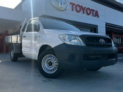 2009 Toyota Hilux TGN16R 09 Upgrade Workmate White 5 Speed Manual Cab Chassis Greenway Tuggeranong Preview