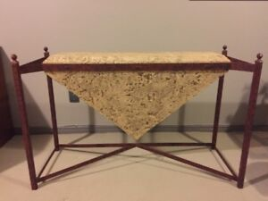 **** Faux Granite Triangle & Wrought Iron Table Base + More ****