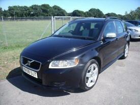 VOLVO V50 SPORT D ESTATE - FSH - Black Manual Diesel, 2008