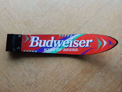 Vintage Budweiser King of Beers SKI shaped Beer Tap Official Advertising RARE!