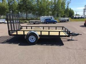 "NEW 2018 PJ 77"" x 12' READY-RAIL UTILITY TRAILER"