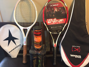 I have Two Tennis rackets and 15 brand new balls for $150.