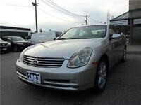 2003 Infiniti G35 Certified and E-Tested CLEAN CARPROOF