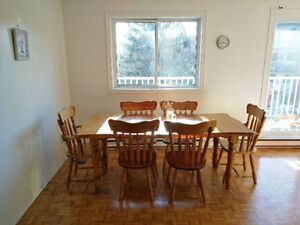 Solid Wood Extendable Dining Set - 6 seats Vaudreuil-Dorion
