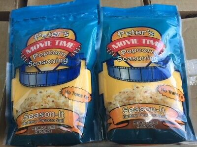 2 Pack Great Western Peters Movie Time 35 Oz. Season-it Buttery Popcorn Salt