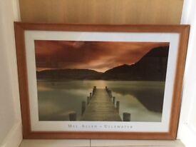 Large Mel Allen Ullswater Print In a Solid Wooden frame
