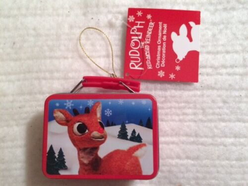 Rudolph The Red Nosed Reindeer 2 Sided Mini Tin Lunchbox Christmas Ornament