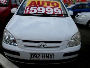 2003 Hyundai Getz TB GL White 4 Speed Automatic Hatchback Slacks Creek Logan Area Preview