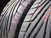 215/55/16 Uniroyal Rain Sport 2 x2 A Pair, 6.0mm (454 Barking Rd, Plaistow, E13 8HJ) Used Tyres