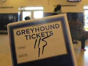2 Greyhound Toronto-London tickets Tues 28 February M+F seniors