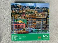 Jigsaw puzzles 1000 pieces Genoa Port, Italy, used, complete set