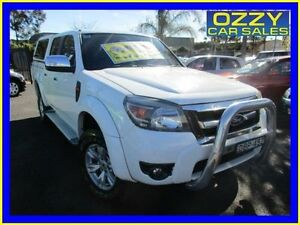 2009 Ford Ranger PK XLT (4x4) White 5 Speed Automatic Dual Cab Pick-up Minto Campbelltown Area Preview
