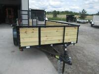 High sided tandem axle landscape trailer - 12' long - $2899