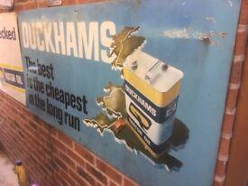 Vintage Duckhams Oil Sign