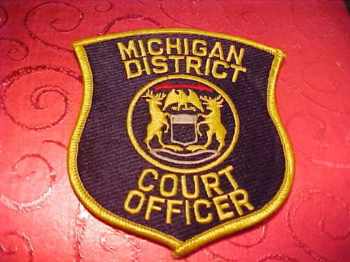 MICHIGAN COURT OFFICER POLICE PATCH SHOULDER SIZE UNUSED