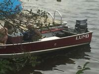 Lund fishing boat with 55HP Yamaha in Bancroft