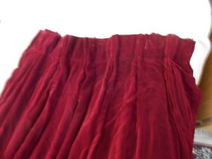 Gorgeous Burgundy French Pleated Velvet Curtain Panels