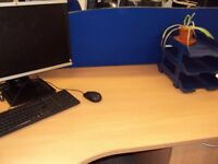 Office relocating. Blue desk back screen x 25. Buyer collects