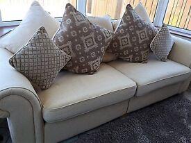 Harveys cream 3 Seater sofa, unmarked, as new