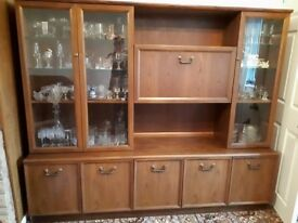 Free to collector, solid teak wall unit.