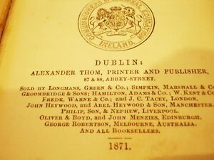 1871 TREATISE on MENSURATION for the USE of SCHOOLS Dublin 141yr
