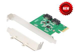 IOCrest PCI-Express 2 Port SATA III (6Gb/s) RAID Controller Card (Low Profile)