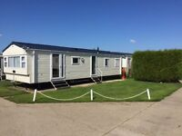 Immaculate 8 berth 2015 model caravan at Haven Church Farm, West Sussex