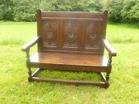 Welsh Oak Antique Bench Settle