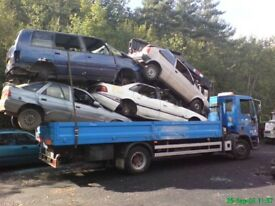 Scrap cars wanted !!! Mot failures lifted end of life vehicles collected