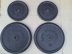 121 lb 55kg Metal Dumbbell Barbell Weights - Heathrow