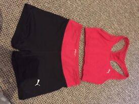 Women PUMA Crop top and Shorts Set