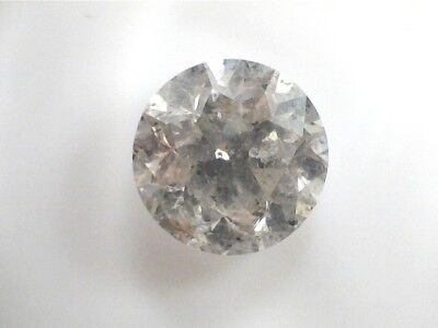 0.82 CT Round I3 Brown  Fancy Loose Diamond! GIA
