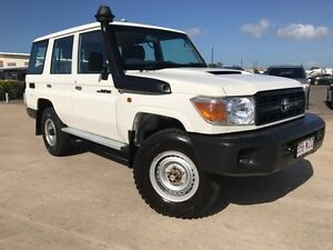 2016 Toyota Landcruiser VDJ76R Workmate White 5 Speed Manual Wagon Garbutt Townsville City Preview