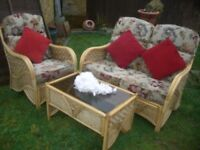 GARDEN Furniture - WITH TWO SETS OF CUSHIONS - CLACTON ON SEA - CO15 6AJ ===