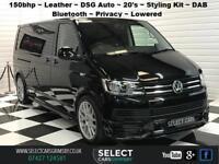 2016 66 VW Volkswagen Transporter Shuttle T6 SE DSG LWB 150bhp R Edition Black