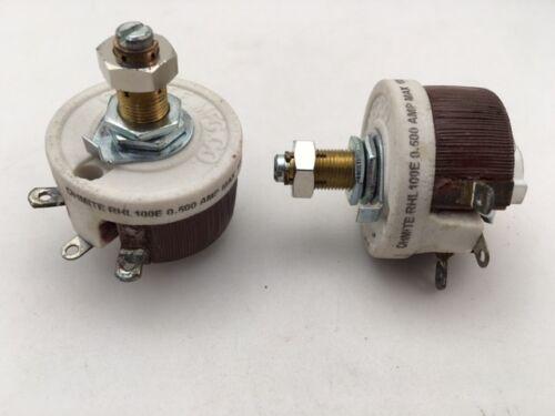 RHL100E Ohmite, 25 Watt 100 Ohm 500V, Locking Shaft, Linear Rheostat