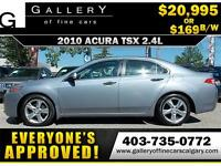 2011 Acura TSX 2.4L $169 bi-weekly APPLY NOW DRIVE NOW