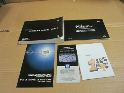 2013 CADILLAC ESCALADE EXT OWNERS MANUAL WITH NAVIGATION  (OEM) - J9597