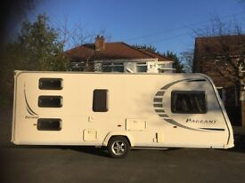 6 Berth Caravan Bailey Pageant Bretagne Series 7 - Fixed Triple Bunk Family Caravan