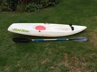 Palm Wave Rider. sit on top surf ski/kayak with paddle