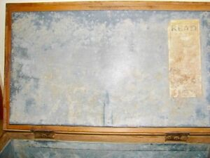 Antique Farmhouse Kitchen Arctic Ice Box Solid Ash Wood Original Kitchener / Waterloo Kitchener Area image 6