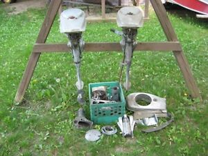 Antique/Vintage 1947 Champion Outboard Motor Lot
