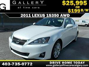 2011 Lexus IS 350 AWD $199 bi-weekly APPLY TODAY DRIVE TODAY