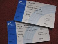 2 Tickets for Richard Thompson gig at the Usher Hall, 17/10/17