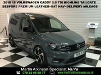 2018 18 Volkswagen Caddy 2.0 TDi Highline Tailgate Pure Grey 102ps
