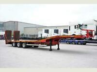 Montracon LOW BED hydraulic side-shift flip-toe mesh ramps,