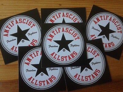 100x Antifascist Allstars Aufkleber stickers Punk Antinazi Gegen Nazis Antifa
